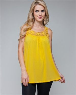 Yellow Dream Lace Tank