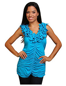 Blue Ready To Ruffle Top by alight