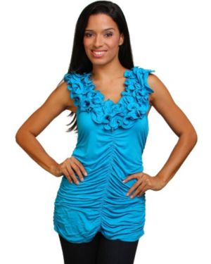 Blue Ready To Ruffle Top