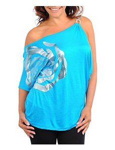 Blue Big Flower Top by alight