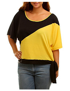 Yellow Color Block Top by alight