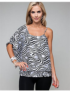 Cold Shoulder Smocked Top by alight