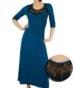 Teal Lace Maxi Dress