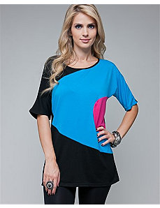 Blue Crescent Tunic Top by alight