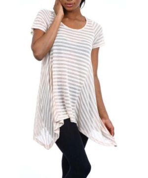 Tan Stripes Top