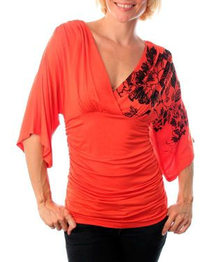 Orange Ripple Top