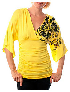 Yellow Ripple Top by alight