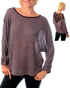 Purple Lace Back Top