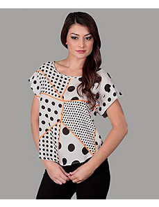 Dot Stripe Top by alight