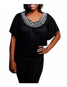 Black Embellished Top by alight