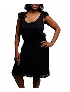 Black Drama Dress by alight