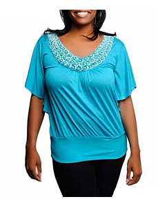 Blue Embellished Top by alight