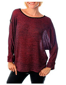 Burgundy Lace Top by alight