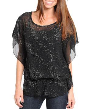 Black Shimmer Top