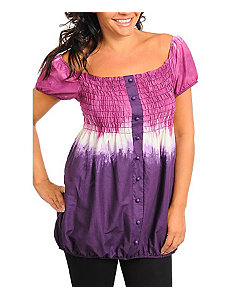 Purple Tie Dye Top by Janette