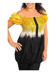 Yellow Tie Dye Top by Janette