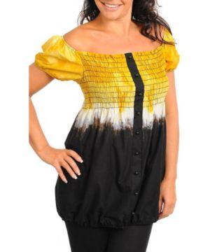 Yellow Tie Dye Top