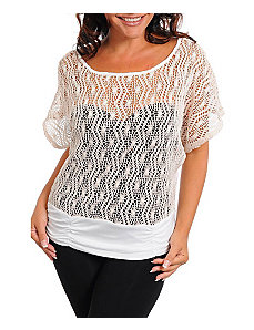 Cream Open Weave Top by alight