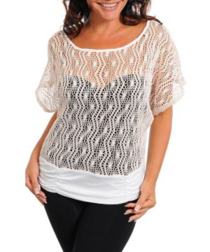 Cream Open Weave Top