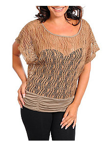 Sand Open Weave Top by alight