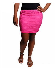 Fuchsia Lace Skirt by alight