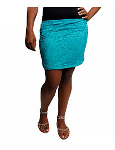 Teal Lace Skirt by alight