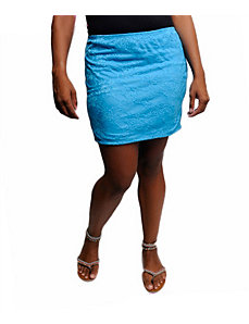 Turquoise Lace Skirt by alight