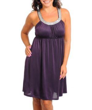Plum Sparkle Dress