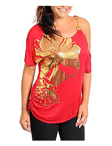 Red Foil Top by alight
