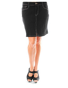 Coal Black Jean Skirt by alight