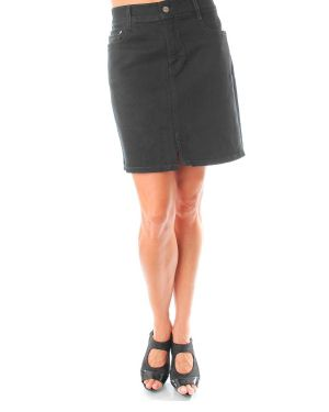 Moon Black Jean Skirt