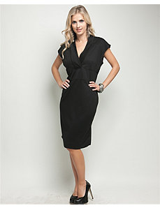 Black Vermont V-Neck Dress by alight