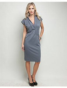 Grey Vermont V-Neck Dress by alight