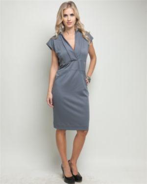 Grey Vermont V-Neck Dress