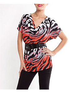Belted Tiger Top by alight