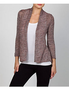Brown Open Hour Cardigan by alight