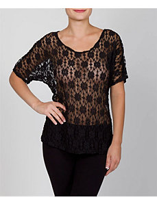 Black Racy Lace Top by alight