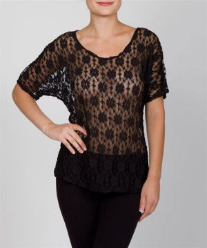 Black Racy Lace Top