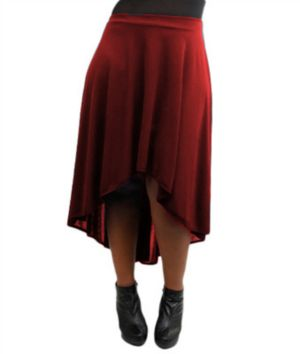 Burgundy Hi Low Skirt
