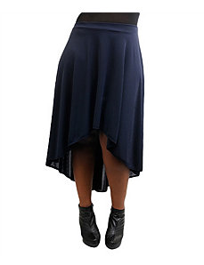 Navy Hi Low Skirt by alight