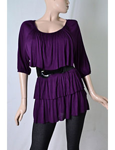 Purple Belted Boston Top by alight