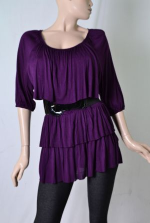 Purple Belted Boston Top