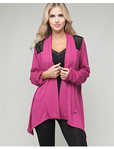 Fuchsia Lace Open Cardigan by alight