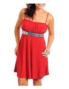 Red Pure Party Dress by alight