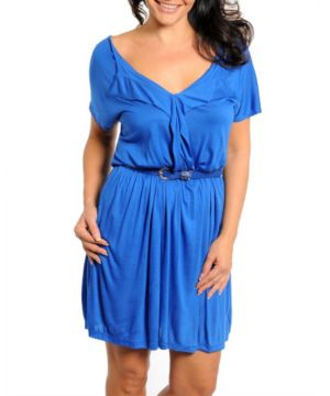 Royal Belted Dress