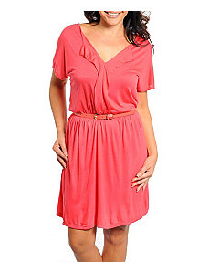 Pink Belted Dress by alight