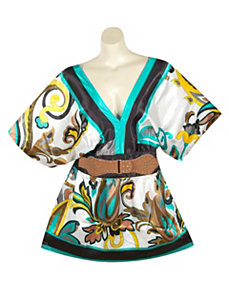 Teal Belted Tunic by alight