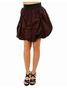 Brown Satin Skirt by alight