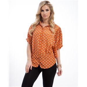 Orange Polka Dot Top