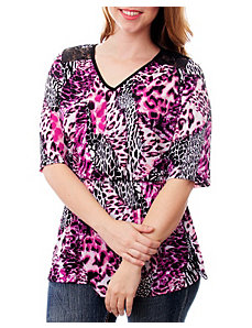 Purple Allover Animal Top by alight